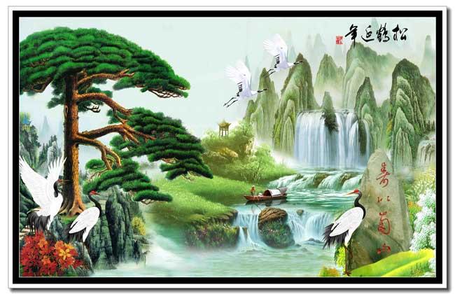 背景墙山水系列